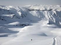Climbing up from Pischa ski area